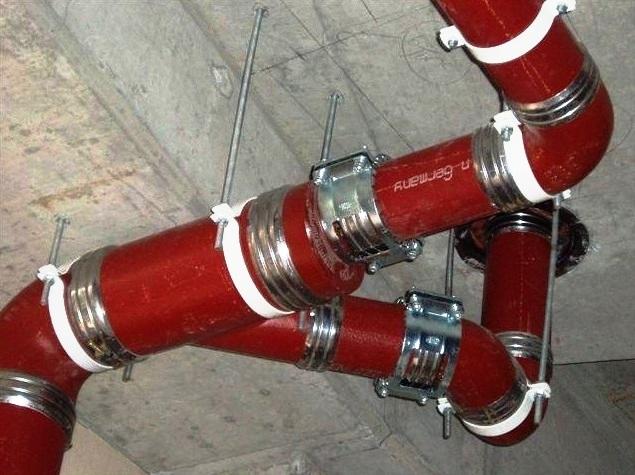 Чугунные трубы систем водоотведения