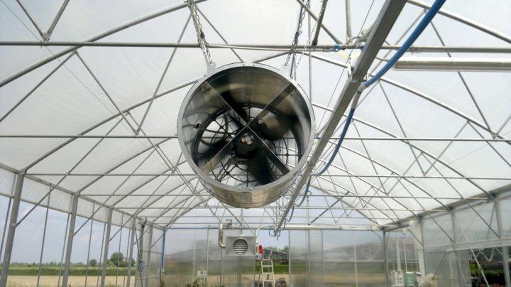 Системы вентиляции промышленных теплиц